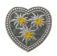 Corazón con Edelweiss Edelweiss-Patch aufbügler Patch aplicación #9229 Tracht