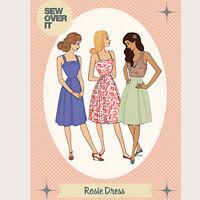 The Rosie Dress Womens Stylish Ladies Sewing Pattern UK Size 8-20
