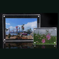 Small Freestanding Polished High Clear Magnetic Picture Photo Frame Unique 2019