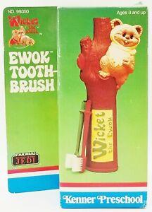 Kenner Preschool Ewok Toothbrush Wicket Star Wars Return Of The Jedi 1984 NRFB