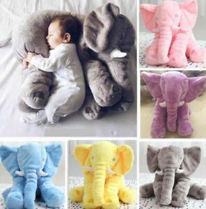 Groß KinderBaby Elefant Puppe Kissen Plüsch Stofftier Kuscheltier Spielzeug Toy~