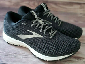 Brooks Womens Sneakers Size 8 Revel 2 Black Gray