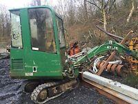 Atlas 404 Mini Digger Excavator  Dismantling !!dipper Ram Only !!