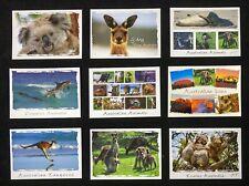 9 x Australian Animals Postcards, Kangaroo, Koala, Dolphin and more
