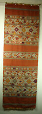 Antique Southeast Asian Textile Pha chet shorter shawl 50x16.5 in Silk on Cotton