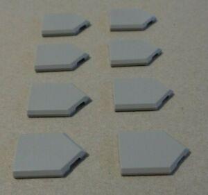 LEGO 22385 - 6245254 Tiles 2x3 With Angle Medium Stone Grey x8