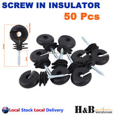Hi Quality 50 Screw In Insulator polyrope Ring Farm Electric Fence Wood Timber