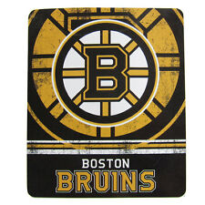 "Brand New NHL Boston Bruins Northwest Large Soft Fleece Throw Blanket 50"" X 60"""