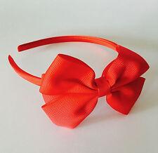 Girls bow alice band headband satin fabric hair 20 colours
