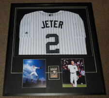 3e1a932bb73 Derek Jeter Signed Framed 33x36 Rookie Card Jersey   Photo Display JSA  Yankees