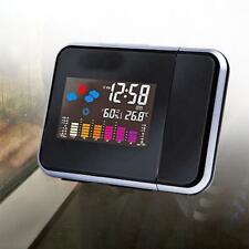 LCD Digital Temperature Humidity Meter Clock Time Calendar Display Projector