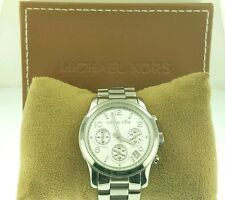 Michael Kors MK5076 Classic Stainless Steel Silver Chronograph Watch
