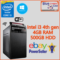 Cheap Fast Win 10 LENOVO INTEL i3 4TH GEN PC Computer 4GB RAM 500GB WiFi