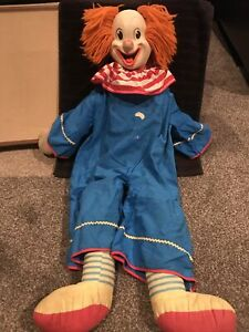"Vintage Knickerbocker 1966 Japan ~ Bozo The Clown ~ 30"" Doll"