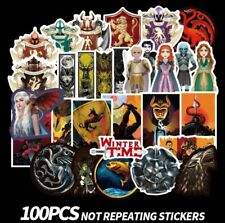 LOT 100 PCS Game of Thrones Laptop Luggage Car Sticker Sheets Decal Decor