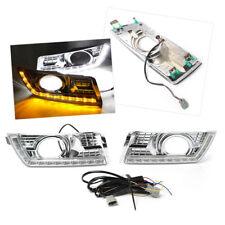 3 Color LED Daytime Running Light Fog Lamp w/Signal Kit for Cadillac SRX 2012-16