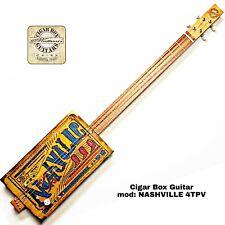 NASHVILLE 4TPV Cigar  Box Guitar 4 corde  by Robert Matteacci