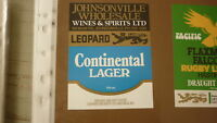 OLD NZ NEW ZEALAND BEER LABEL, LEOPARD BREWERY HASTINGS, JOHNSONVILLE WINES