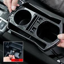 For Honda Civic 2016-2020 Carbon Fiber Interior Console Storage Box Trim & USB