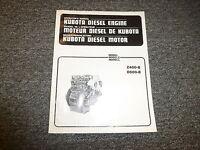 Kubota Z400B D600B Diesel Engine Owner Operator Manual Guide Book