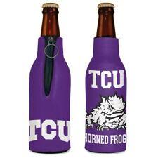 Tcu Horned Frogs Neoprene Bottle Holder Coozie Koozie Cooler With Zipper
