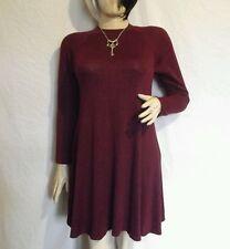 Women's Cotton Blend Crew Neck Long Sleeve Everyday Dresses