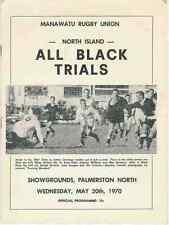 NUOVA Zelanda All Blacks Rugby INTERNATIONAL programma di prova 20 MAGGIO 1970, Palmerston North