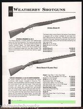 2002 WEATHERBY Athena Grade III, Orion Grade II Classic Field Shotgun AD