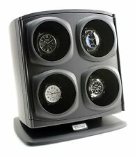 Versa Quad Australia Watch Winder in Black Independently Controlled Settings