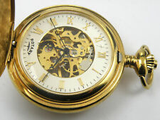 Reloj De Bolsillo esqueleto mecánico giratorio mitad Cazador