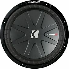 "KICKER 40CWR124 CAR AUDIO 12"" DUAL 4 OHMS COMPR SUBWOOFER SUB WOOFER 40CWR12-4"
