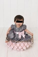 Pink And Gray 12 Month Girl Dress