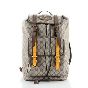 Gucci Courrier Soft Backpack GG Coated Canvas Large