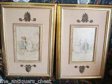 "Pair of Vintage French prints ""La Presentation"" and ""La Dernier Moeud""[4]"