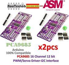 2pcs PCA9685 16 Channel 12 bit PWM Servo Driver I2C Interface