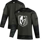 Authentic Adidas NHL Vegas Golden Knights Camo Hockey Jersey New Mens 42 $120