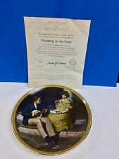 "Norman Rockwell ""Pondering on the Porch"" 1981 Collector Plate"