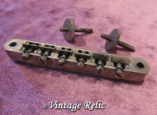 aged ABR-1 No Wire Tune-O-Matic Bridge Nickel fits Gibson Les Paul Historic 335