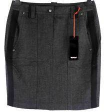 Michele Rock 38, 40, 42 (D) grau schwarz Bleistiftrock Flanell neu mit Etikett
