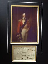 5th DUKE OF RICHMOND - BATTLE OF WATERLOO ARMY OFFICER - SIGNED COLOUR DISPLAY
