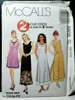 McCall's 8808 Dress & Overdress 2 Lengths Uncut FF OOP Sewing Pattern 2 HOUR