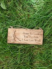 Golf Wooden Hanging Sign 27cm x 7cm