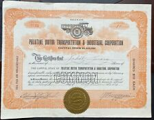 PALATINE MOTOR TRANSPORTATION & INDUSTRIAL CORP Stock 1921. Freight Truck VIG
