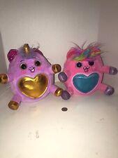 Pink & Purple Zuru Rainbocorns Plush Stuffed Unicorn Lot Of 2. Rare Pink