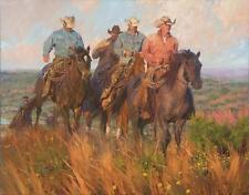 Bruce Greene A Cowboy's Commute Fine Art Giclee on Canvas Signed and Numbered