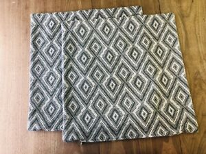 2 Pillow Covers Kravet Banati Tanzania Quartz Gray Beige Geometric With Zipper