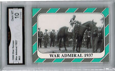 War Admiral Horse Star Cards Rare Rookie card Gem 10 #63