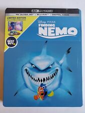 FINDING NEMO STEELBOOK (4K UHD + Blu-Ray + Digital) Disney Pixar Sealed & New