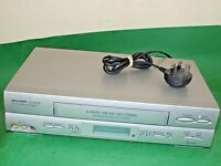 SHARP VC-MH705 VCR VHS VIDEO CASSETTE RECORDER Vintage Silver Slim Fully Working