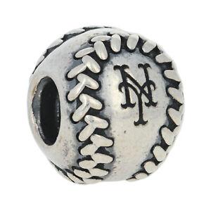Pandora New York Mets Charm - Silver MLB Baseball NEW Authentic USB790969-G018